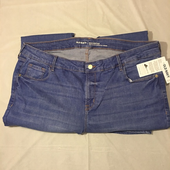 3b738c4976b Mid-Rise Built-In Sculpt Rockstar Jeans for Women. NWT. Old Navy